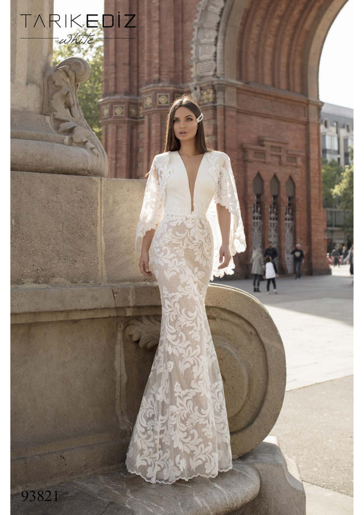 Tarik Ediz 93822 Wedding Dress