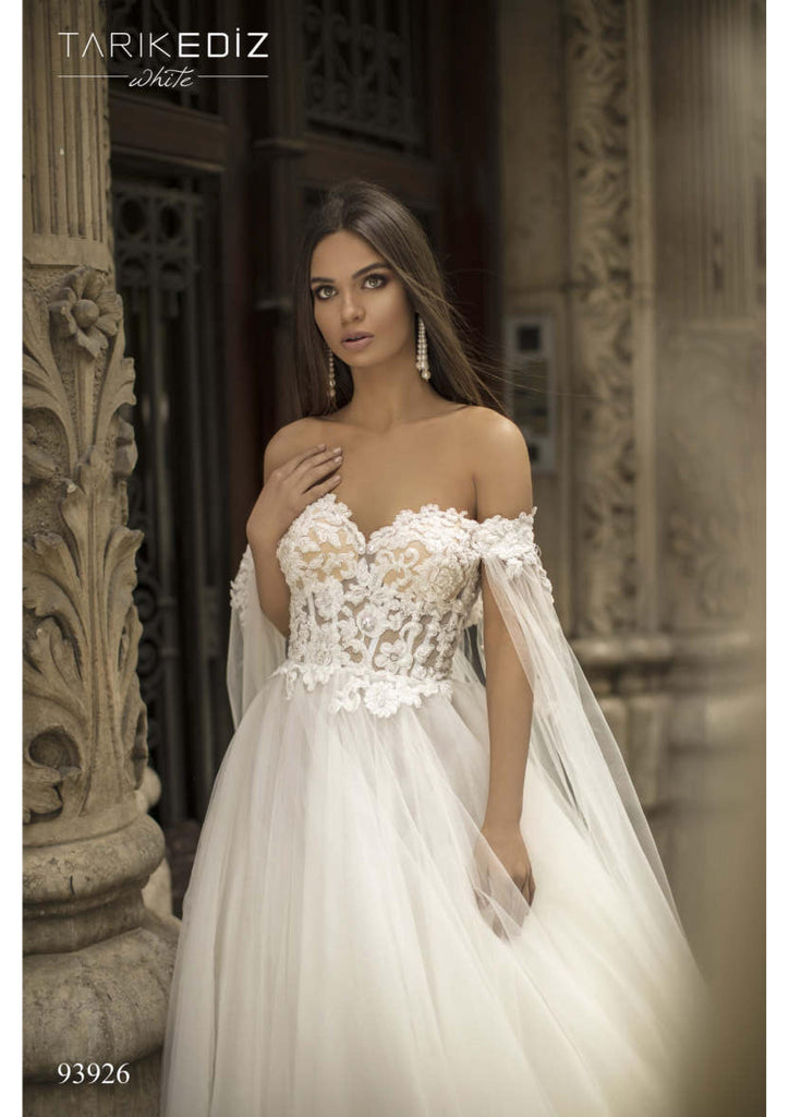 Tarik Ediz 93926 Wedding Dress