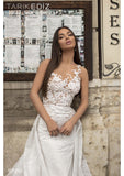 Tarik Ediz 93930 Wedding Dress