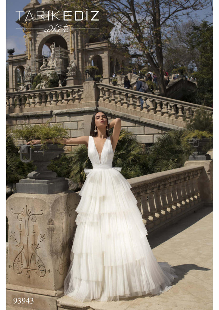 Tarik Ediz 93943 Wedding Dress