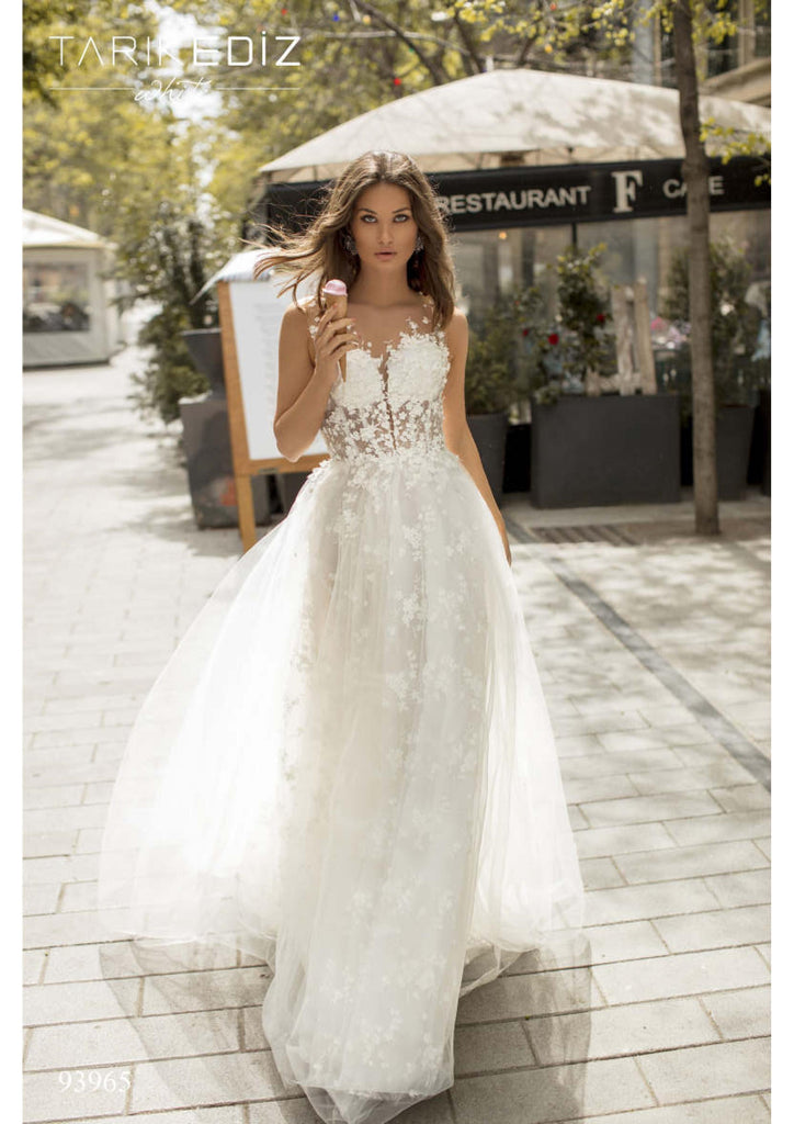 Tarik Ediz 93965 wedding dress