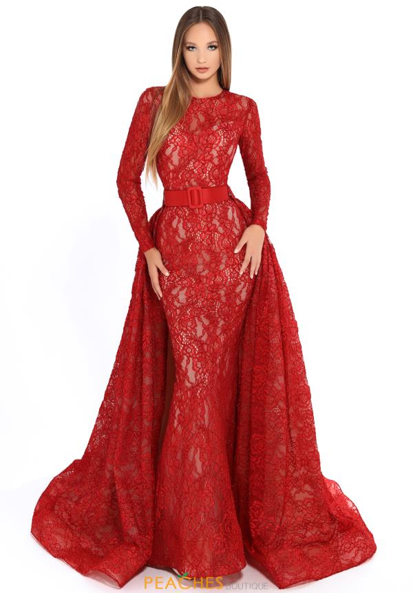 a15d23e993f0 Tarik Ediz 93608 Long Sleeve Lace Dress – SULTANA DRESS