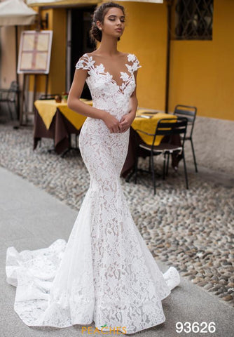 Tarik Ediz 93626 Mermaid Beaded Dress