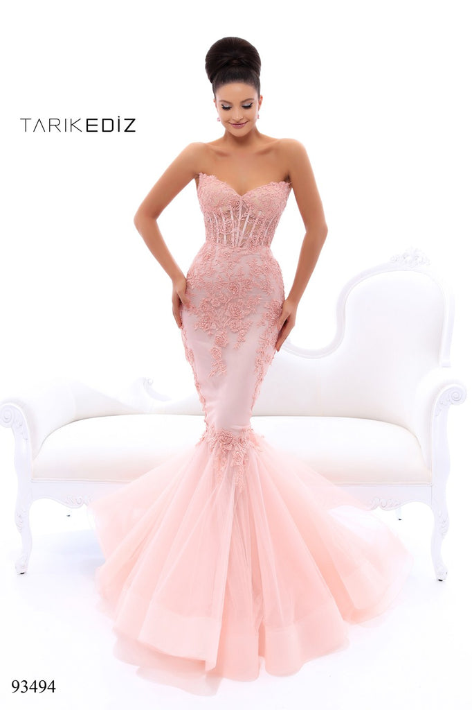 341acfad3d10 Tarik Ediz 93494 Mermaid Beaded Dress – SULTANA DRESS