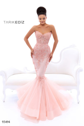 Tarik Ediz 93494 Mermaid Beaded Dress