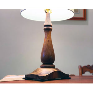 Monkeypod Table Lamp, Rectangular Base