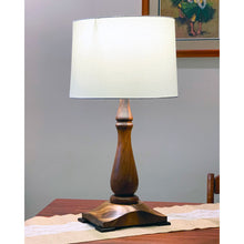 Load image into Gallery viewer, Monkeypod Table Lamp, Rectangular Base
