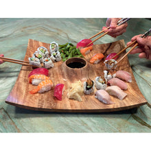 Load image into Gallery viewer, Wood Sushi Platter