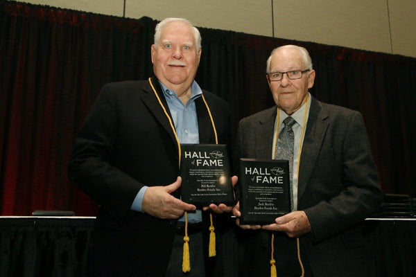 Bill and Jack Renfro accepting their Specialty Food Association's Hall of Fame awards