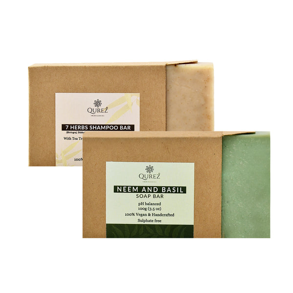 Redefine your bathing experience with our vegan shampoo and soap bars!