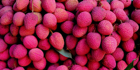 A collection of pink Litchis