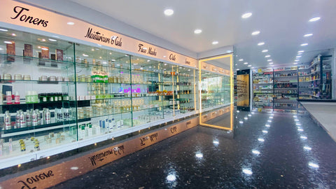 Interior of a beauty store