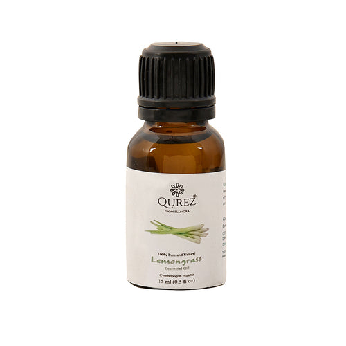 Qurez Lemongrass Essential oil, 100% Pure, 15 ml
