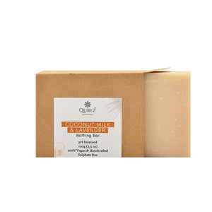 Coconut Milk and Lavender Bathing Bar (Sulphate free and Organic), 100g
