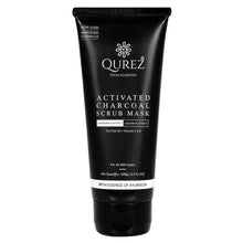 Load image into Gallery viewer, Qurez Activated Charcoal Scrub Mask with Tea Tree, Vitamin C, Paraben Free, 100g