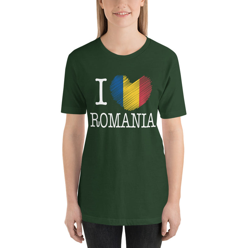 I Love Romania Women T-Shirt - Mirela's Tshirts