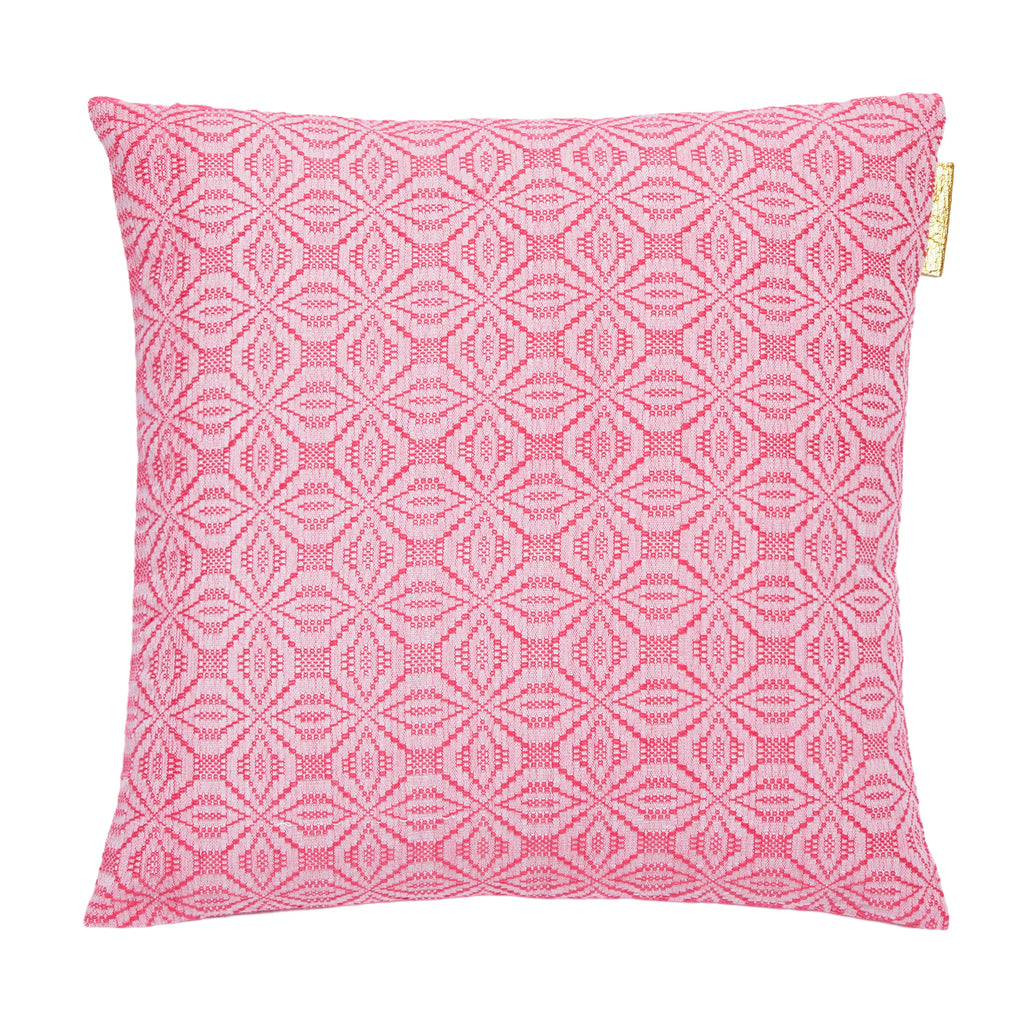 Cushion cover fuchsia pink & bright green