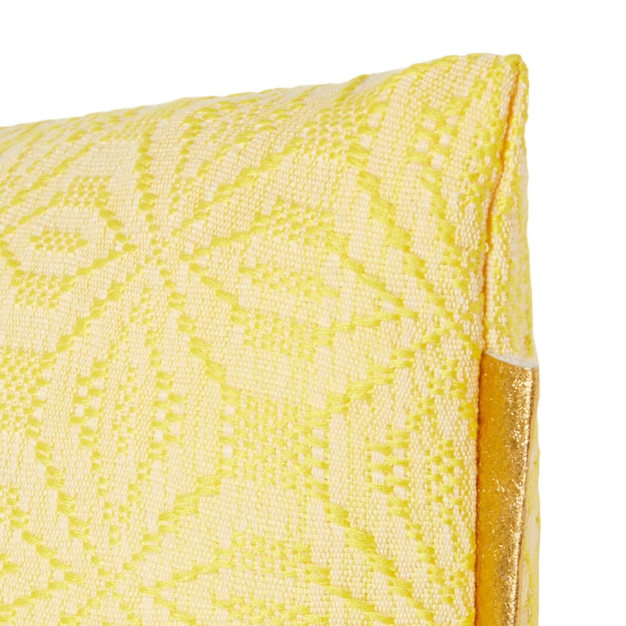 Cushion cover yellow & turquoise