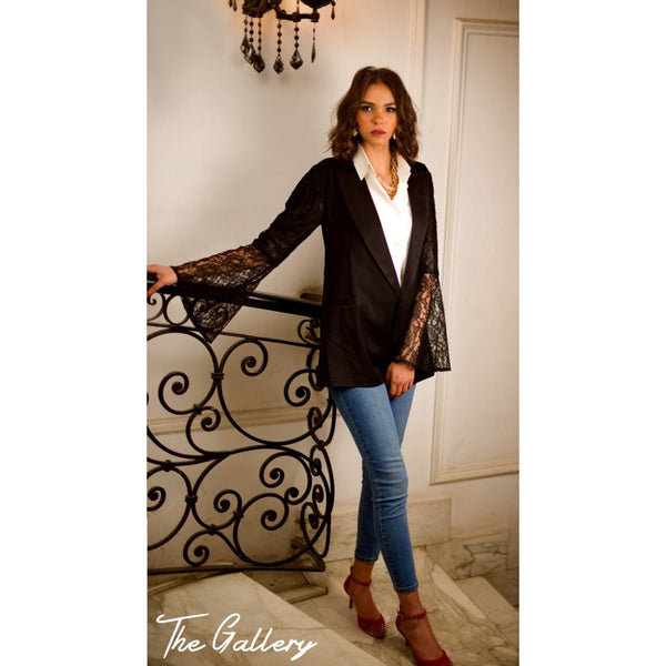 Black lace blazer