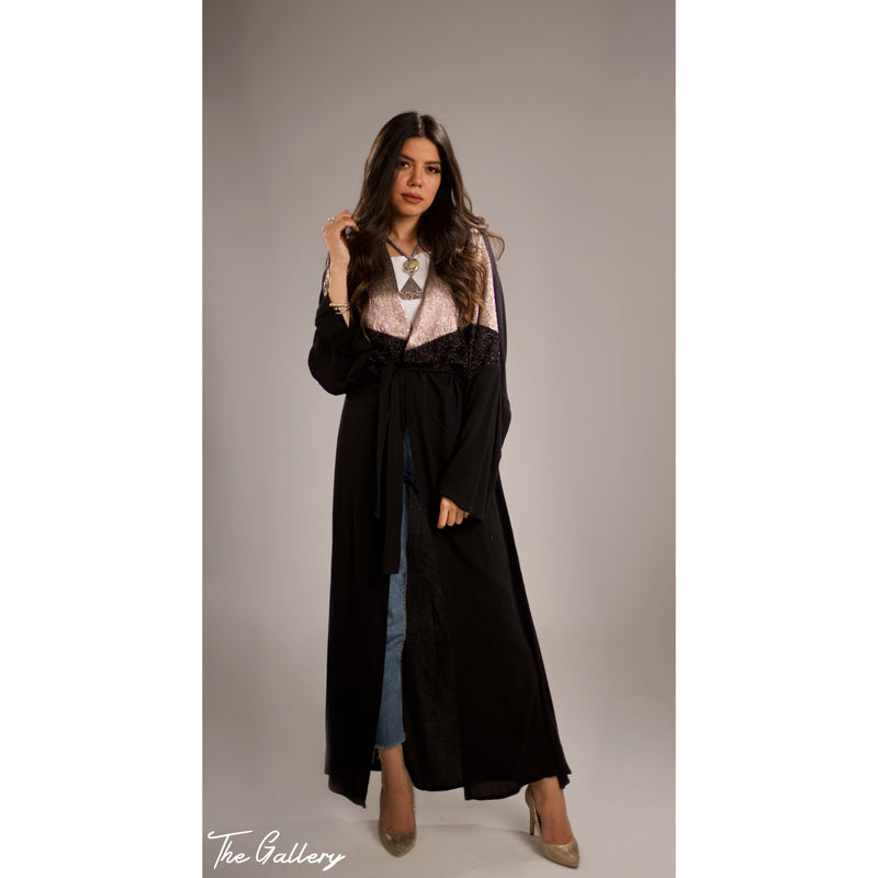 Long wrap kaftan cardigan