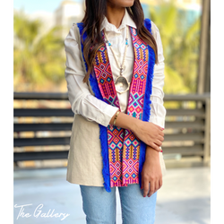 Bohemian embroidered vest