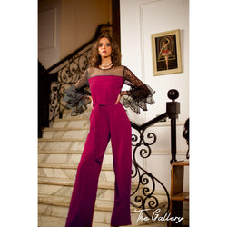 dark fushia jumpsuit