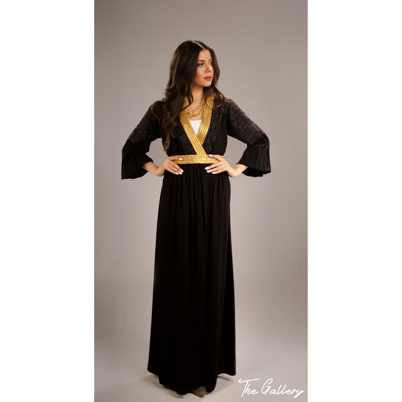 Double breasted kaftan dress