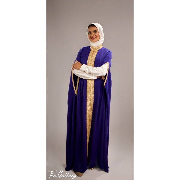 Blue cape kaftan dress