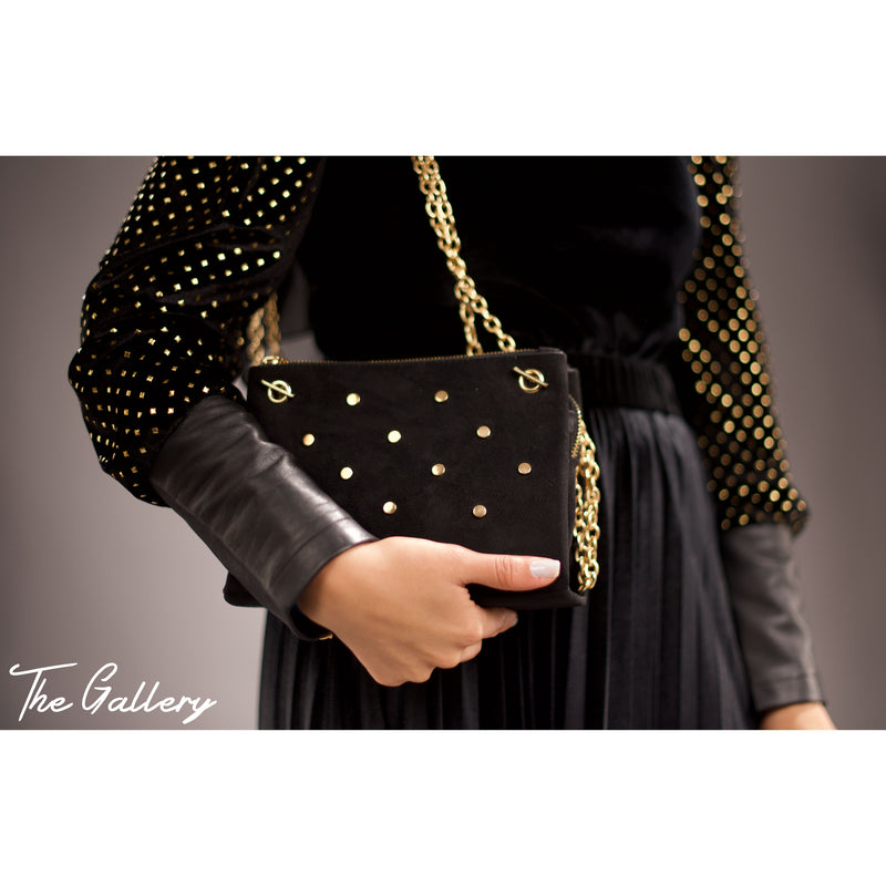 Studded chamois bag