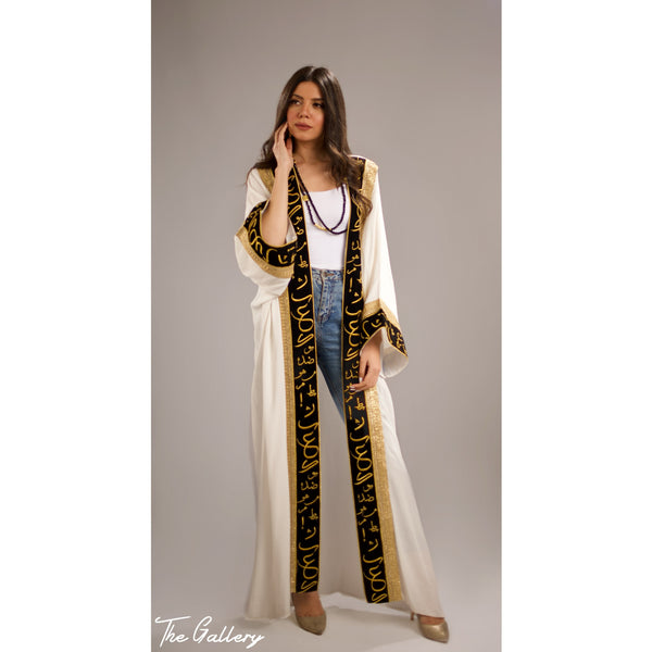 Arabic calligraphy embroidered Kaftan