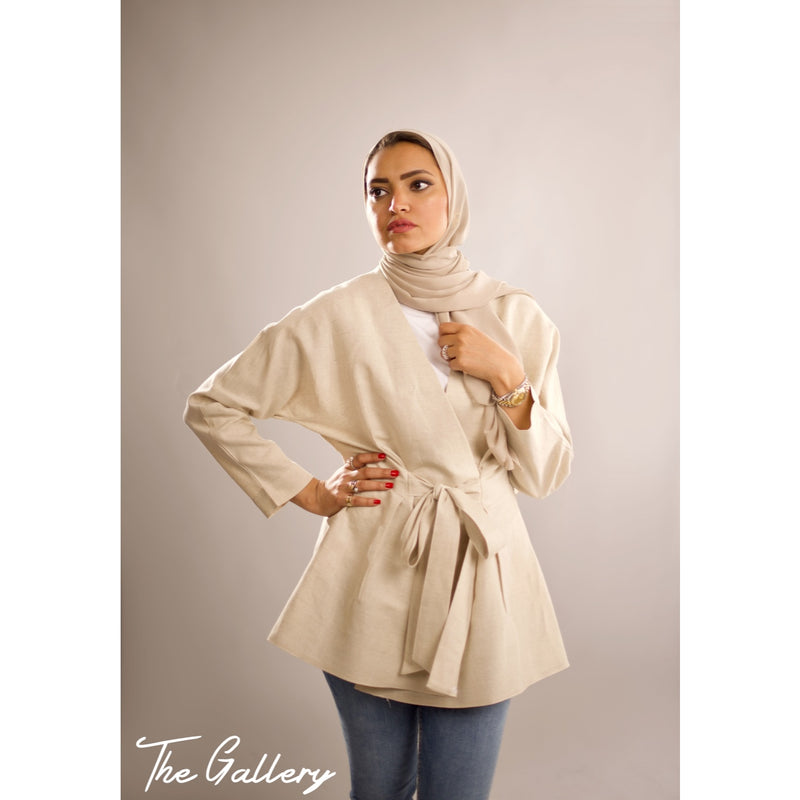 Beige short jacket