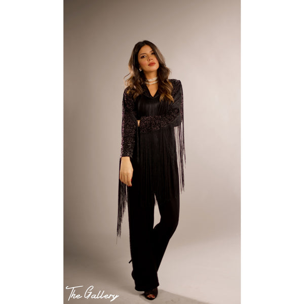 Long Sleeve Tassel jumpsuit