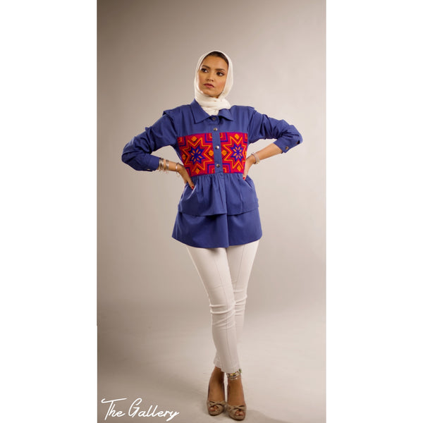 Indian ruffled peplum jacket