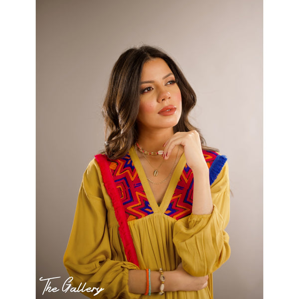 Yellow Indian dress