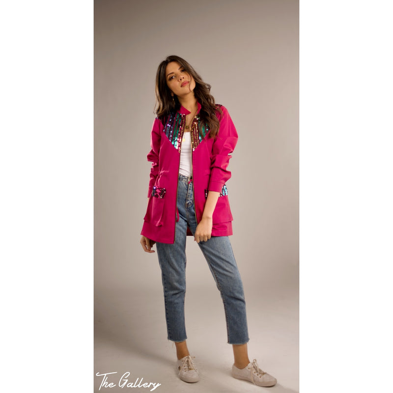 Fushia sequin jacket