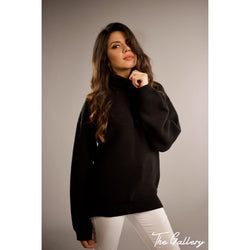 Black High neck pullover