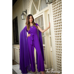 Long open sleeves jumpsuit