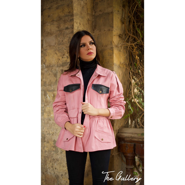 Light pink super over sized Gabardine jacket.