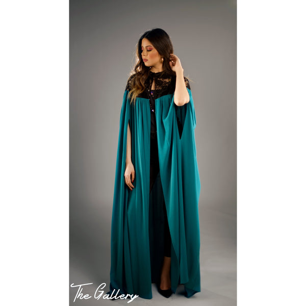 Embossed embroidery kaftan
