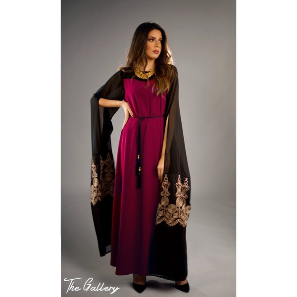 Dark fushia dress kaftan