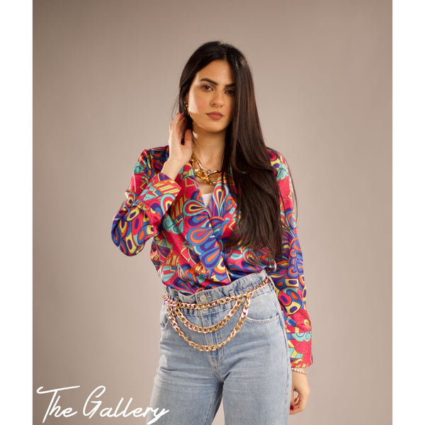 Colored printed blouse