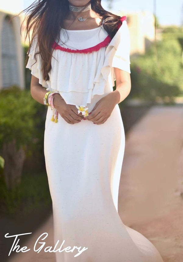 White tassels dress