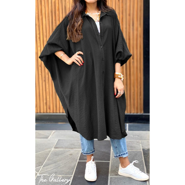 Black Oversized loose shirt