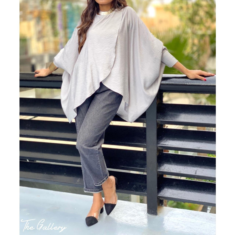 Grey oversized blouse