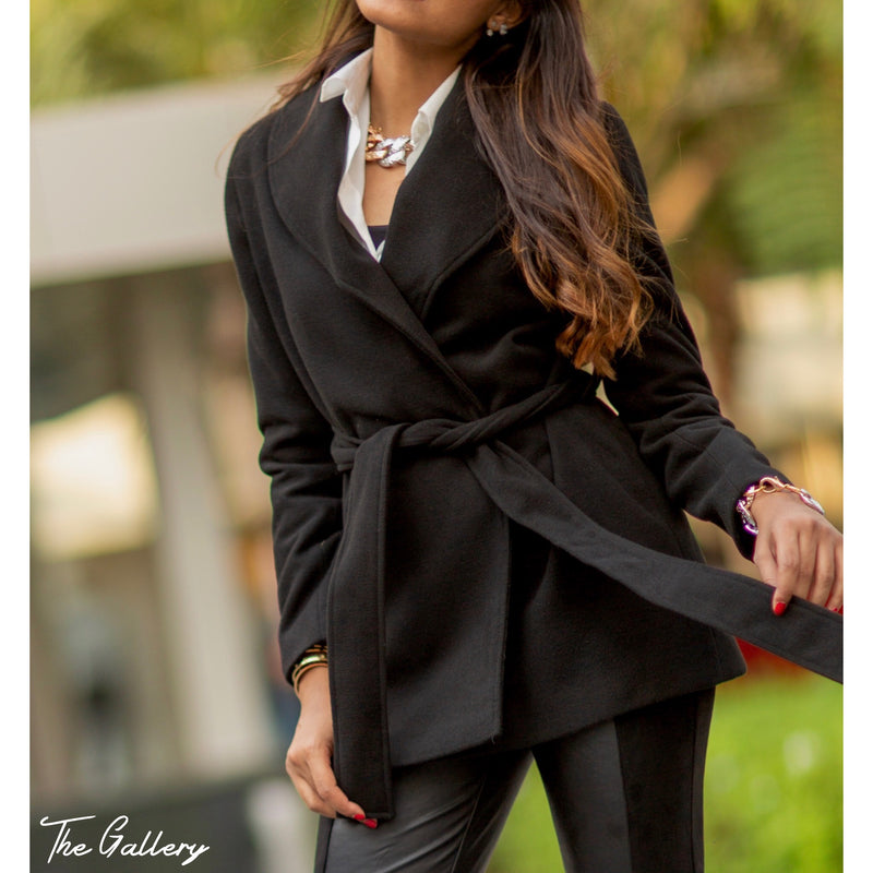 Black shawl collar jacket
