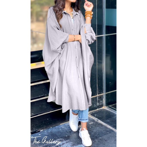Grey Oversized loose shirt