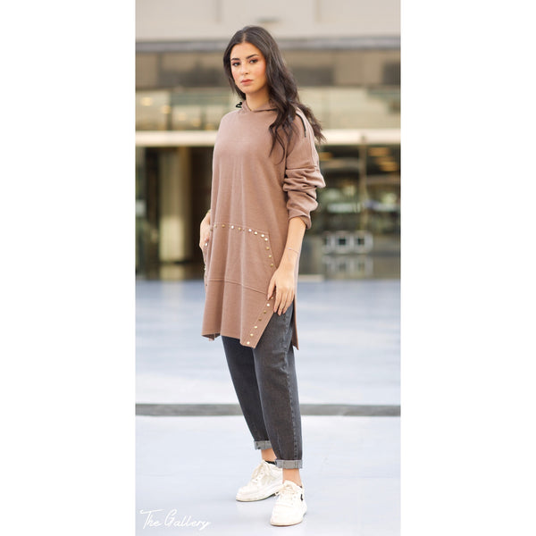 Cashmere hooded sweatshirt