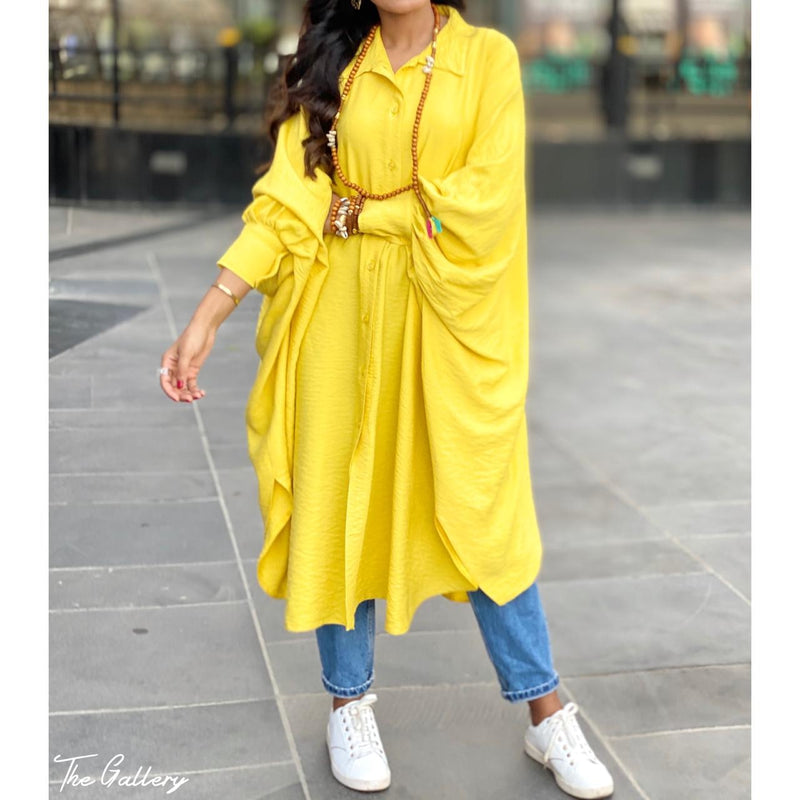 Yellow Oversized loose shirt