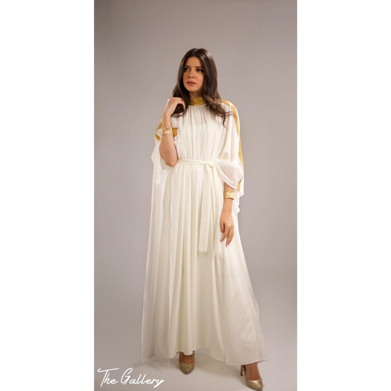 Off white kaftan dress