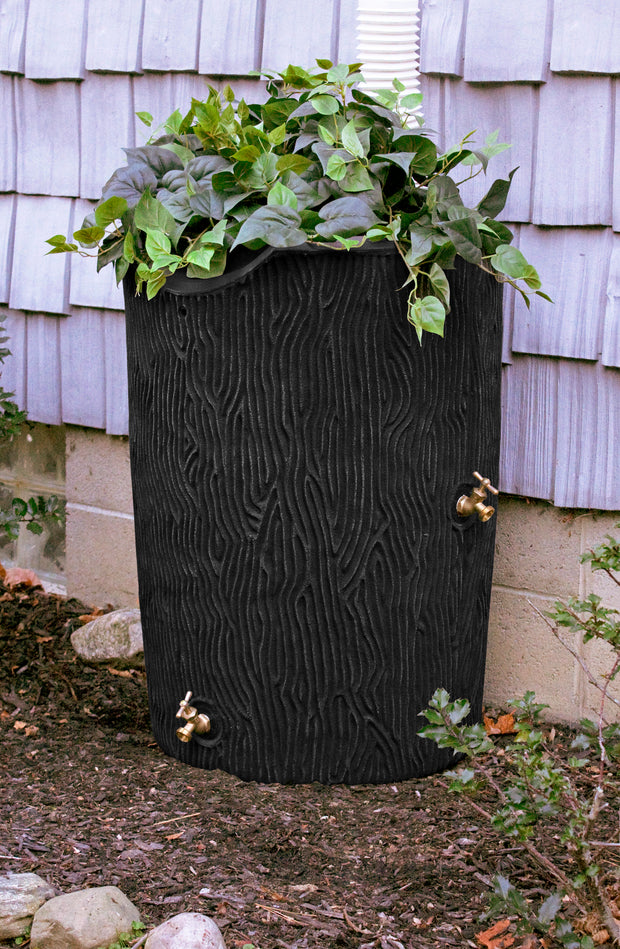 Impressions 50 Gallon Bark Rain Saver